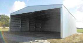 Open front hay shed