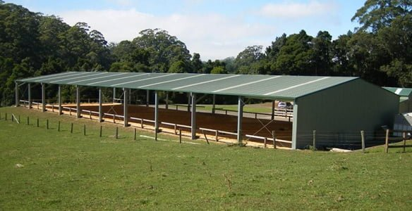 Horse Stables set in paddock