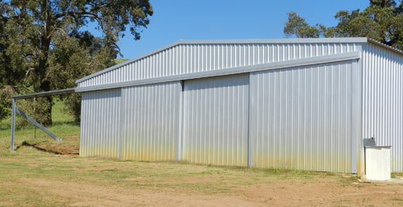 Small aircraft hanger in Perth