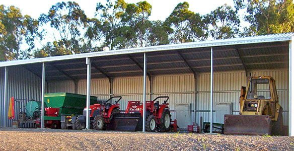 Open Front Machinery Sheds Perth Wa Action Sheds Australia