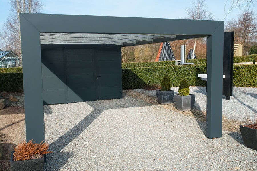 Modern Carport With Storage : Sydney carports awnings car garage carport