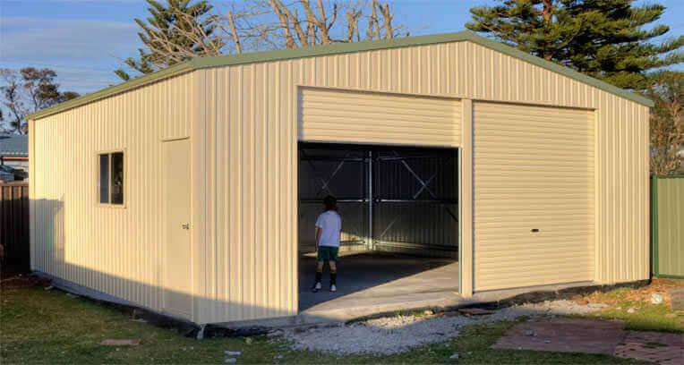 Garage Shed from Action Sheds Australia